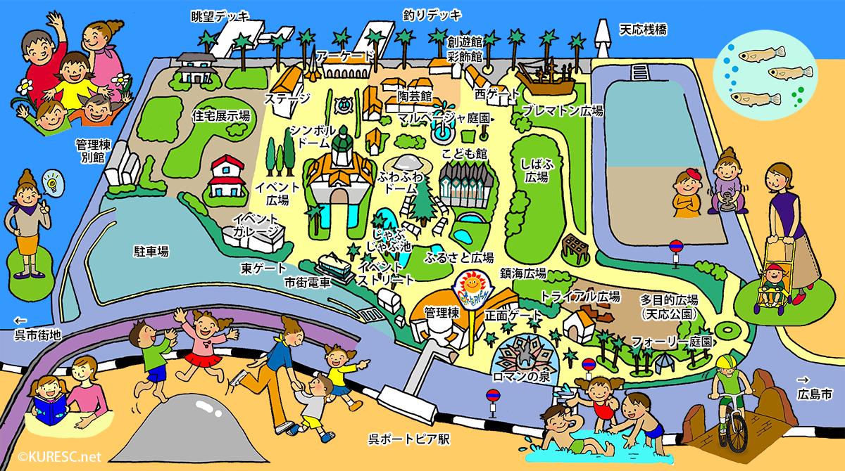 呉ポートピアパーク園内マップ